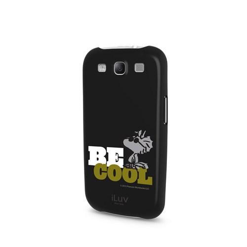 iLuv Samsung Galaxy S3 Siyah ISS256BCBLK Snoopy Behavior Series Kılıf