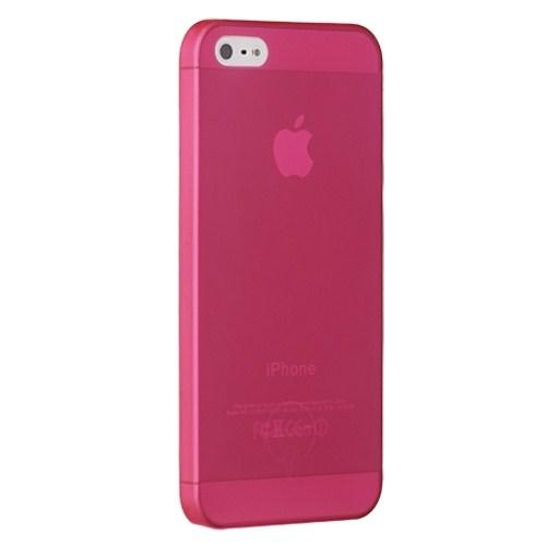 Ozaki O!Coat 0.3 Jelly Sert iPhone 5/5s Kılıfı + Ekran Koruyucu Film (Kırmızı)