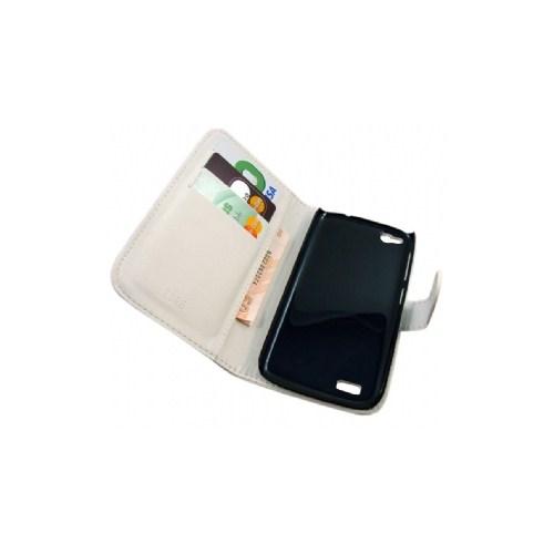 Microsonic Cüzdanlı Suni Deri Kılıf - General Mobile Discovery - Beyaz