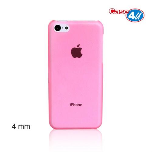 Case 4U iPhone 5c Pembe Kapak Ultra İnce 0,4 mm