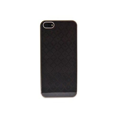 Vacca Apple iPhone 5/5s 3D Kareler S-Line Siyah