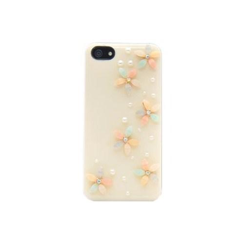 Vacca Apple iPhone 5/5s 3D Mineli Pastel Lady-Line Krem