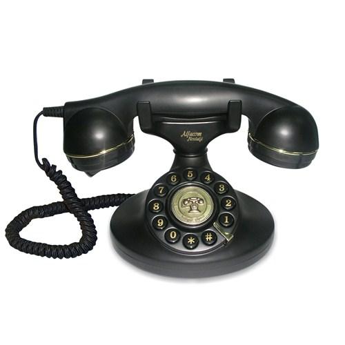 Alfacom Nostalji Masa Telefonu Siyah