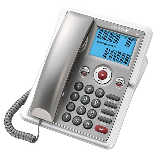 Alfacom 541 Cid. Masa Telefonu Gri Gümüş