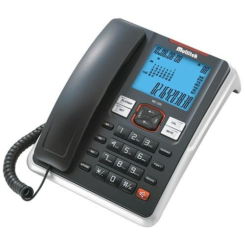 Multitek MC 200 Cid. Masa Telefonu Siyah