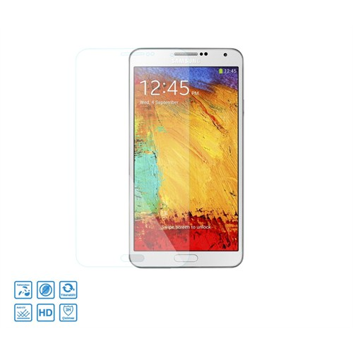 Case 4U Samsung N9000 Note 3 Cam Ekran Koruyucu Glass Film