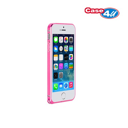 Case 4U Apple iPhone 5/5s Ultra Thin Metal Çerçeve Pembe