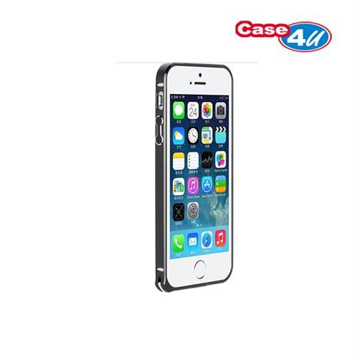 Case 4U Apple iPhone 5/5s Ultra Thin Metal Çerçeve Gold Siyah