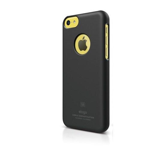 Elago Apple iPhone 5C S5 Slim Fit Series-Mat Siyah (Ekran Koruyucu Hediye)