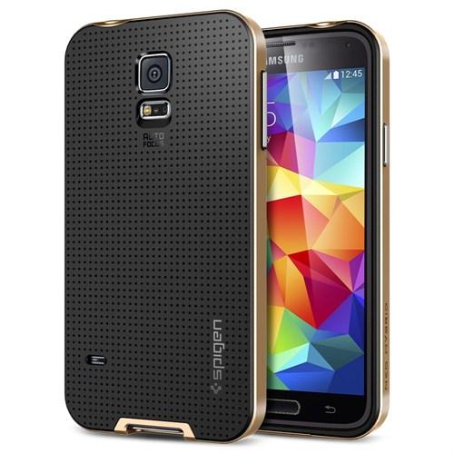 Spigen Sgp Samsung Galaxy S5 Neo Hybrid Kılıf - Copper Gold