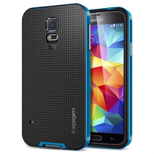 Spigen Samsung Galaxy S5 Kılıf Neo Hybrid Electric Blue