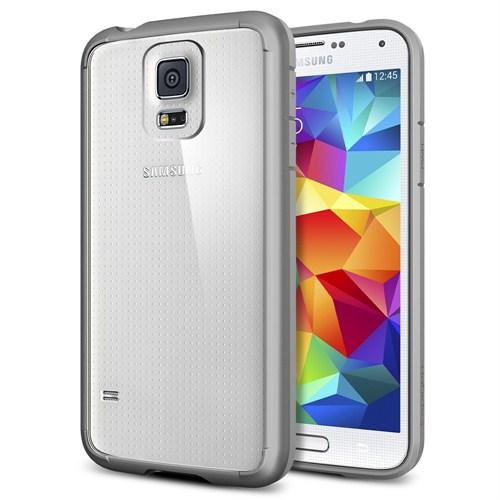 Spigen Samsung Galaxy S5 Ultra Hybrid Kılıf - Gray