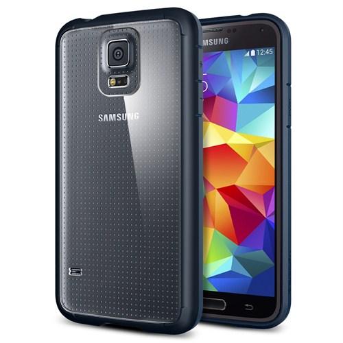 Spigen Samsung Galaxy S5 Ultra Hybrid Kılıf - Metal Slate