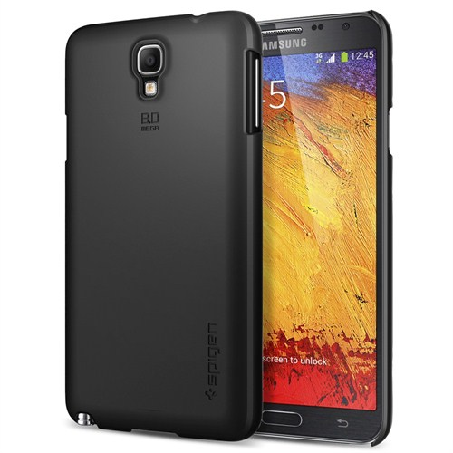 Spigen Sgp Samsung Galaxy Note 3 Neo Ultra Fit Smooth Black Neo