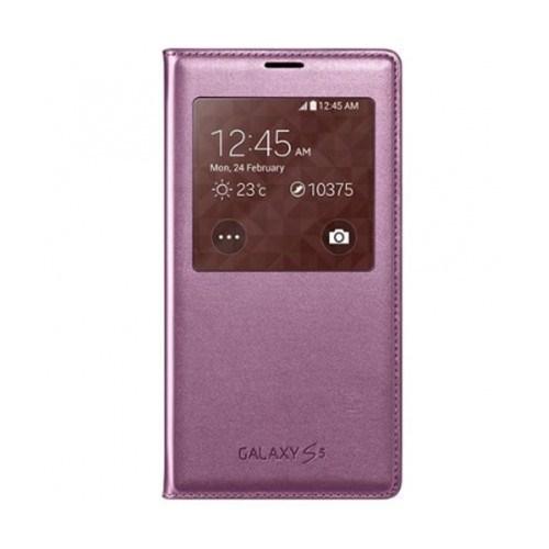 Samsung Galaxy S5 Flip Cover Kılıf Pembe CG900BPEGWW