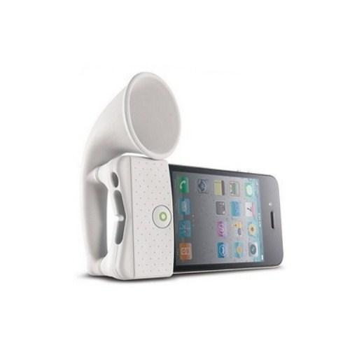 Microsonic Horn Stand iPhone 4/3G Taşınabilir Hoparlör Beyaz - HRN110