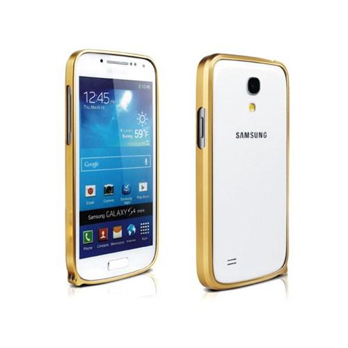 Microsonic Samsung Galaxy S4 i9500 Ultra Thin Metal Bumper Kılıf Sarı - Cs180-Mtl-Bmp-Glx-S4-Srı