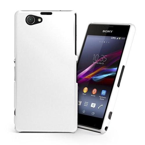 Microsonic Premium Slim Kılıf Sony Xperia Z1 Compact M51W Beyaz - CS110-XPR-Z1-COMPCT-BYZ