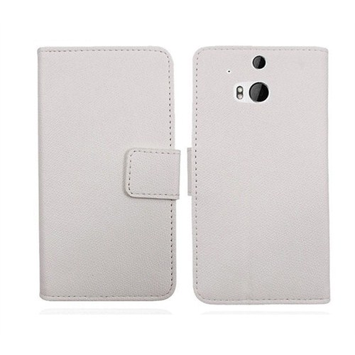 Microsonic Cüzdanlı Deri Kılıf - HTC One M8 Beyaz - CS150-WLT-HTC-ONE-M8-BYZ