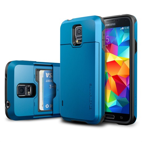 Spigen Sgp Samsung Galaxy S5 Slim Armor CS Kılıf - Electric Blue