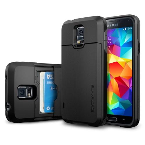 Spigen Samsung Galaxy S5 Kılıf Slim Armor CS - Smooth Black