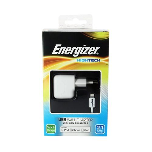 Energizer AC1UEUHIP5 Apple Lightning Seyahat Şarj Kiti Çok/Usb iPhone/iPod/iPad 2100MA