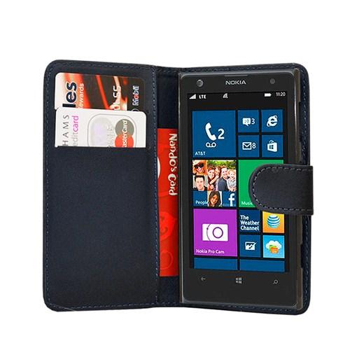 Microsonic Nokia Lumia 1020 Cüzdanlı Deri Kılıf Siyah - CS150-WLT-LUMIA-1020-SYH