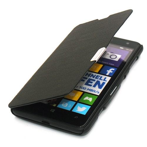 Microsonic Nokia Lumia 625 Mıknatıslı Ultra Thin Kapaklı Kılıf Siyah - CS150-MGNTC-THIN-NK-LUMIA-625