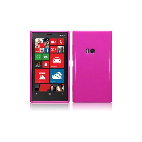 Microsonic Nokia Lumia 920 Glossy Soft Kılıf Pembe - CS130-GLSSY-LUMIA-920-PMB