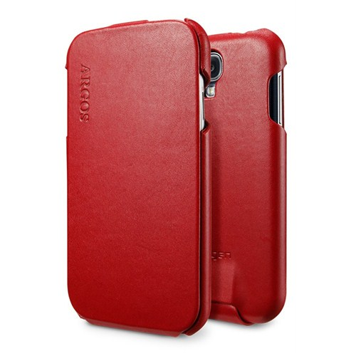 Spigen Sgp Samsung Galaxy S4 i9500 Case Argos Red Dik Kapaklı Kılıf