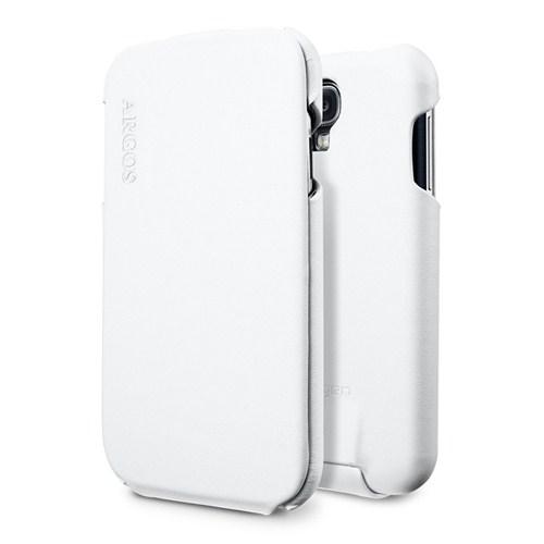 Spigen Samsung Galaxy S4 i9500 Kılıf Argos White Dik Kapaklı Kılıf
