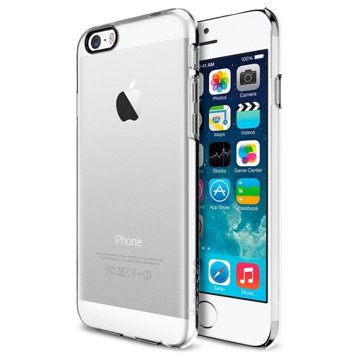 "Spigen Apple iPhone 6S/6 Kılıf (4.7"")Thin Fit Serisi Crystal Clear (PET) - 10939"