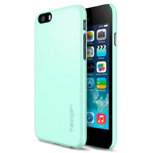 """Spigen Sgp iPhone 6 (4.7"""") Thin Fit Series Mint (PET) Kılıf - SGP10938"""