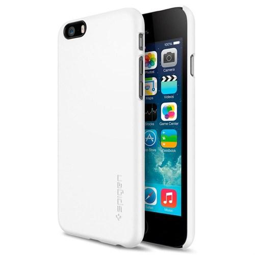 """Spigen Sgp iPhone 6 (4.7"""") Thin Fit Series Shimmery White (PET) Kılıf - SGP10937"""
