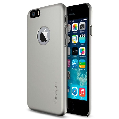 "Spigen Sgp iPhone 6 Kılıf (4.7"") Thin Fit A Series Satin Silver (PET) - SGP10942"