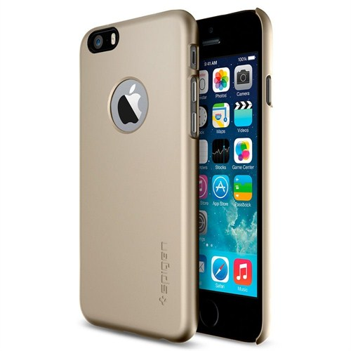 Spigen Apple iPhone 6S/6 Kılıf Thin Fit A Serisi Champagne Gold (PET) - 10943