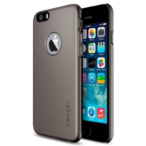"""Spigen Sgp iPhone 6 Kılıf (4.7"""") Thin Fit A Series Gunmetal (PET) - SGP10944"""