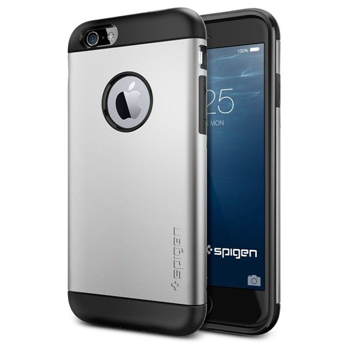 Spigen Apple iPhone 6S/6 Kılıf Slim Armor Serisi Satin Silver - 10958