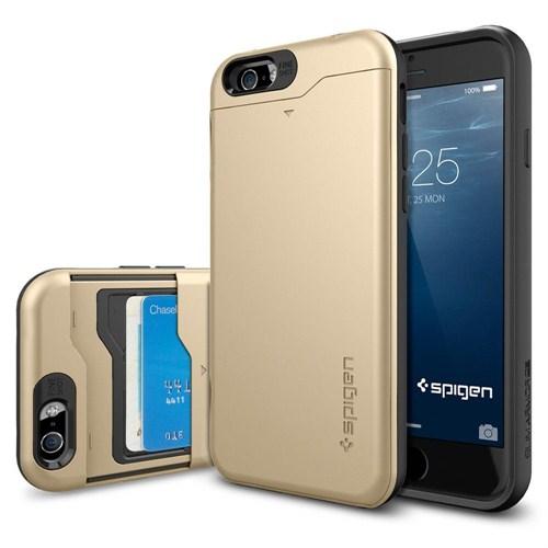 "Spigen Sgp iPhone 6 Kılıf (4.7"") Slim Armor CS Champagne Gold - SGP10967"