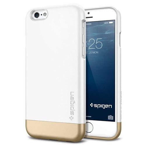 Spigen Apple iPhone 6S/6 Style Armor Serisi Shimerry White Kılıf - 11048