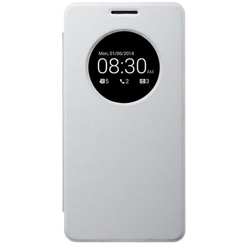 Microsonic Asus Zenfone 6 View Cover Delux Kapaklı Kılıf Beyaz - CS150-V-DLX-ASS-ZENFONE6-BYZ