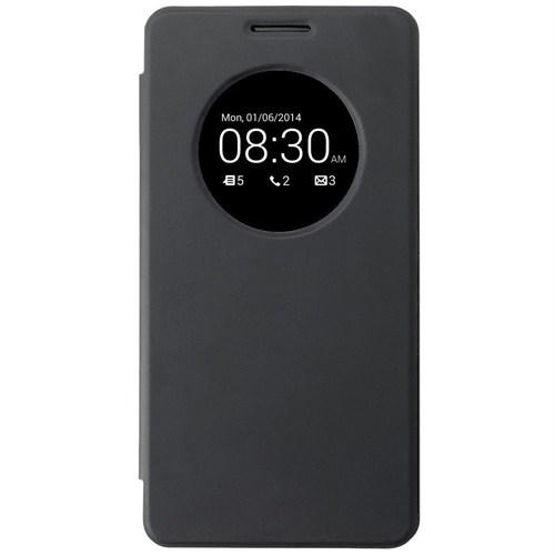 Microsonic Asus Zenfone 5 View Cover Delux Kapaklı Kılıf Siyah - CS150-V-DLX-ASS-ZENFONE5-SYH