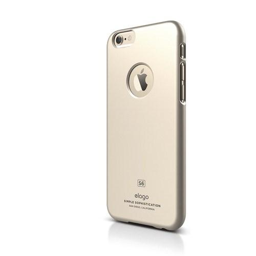 Elago Apple iPhone 6/6S S6 Slim Fit Series Kılıf Altın (Ekran Koruyucu Hediye)