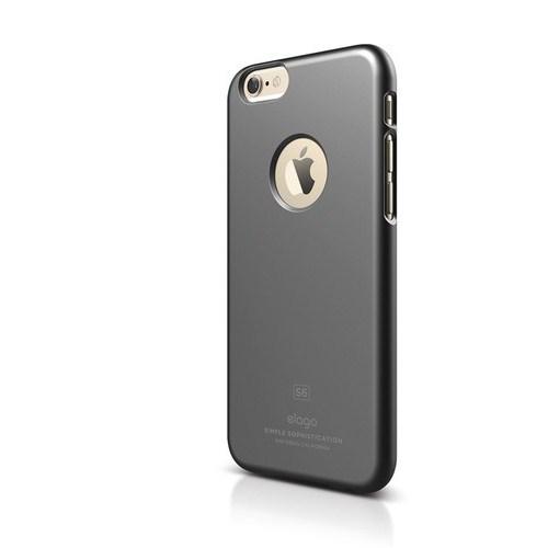 Elago Apple iPhone 6 S6 Slim Fit 1 Series Kılıf - Koyu Gri(Ekran Koruyucu Hediye)