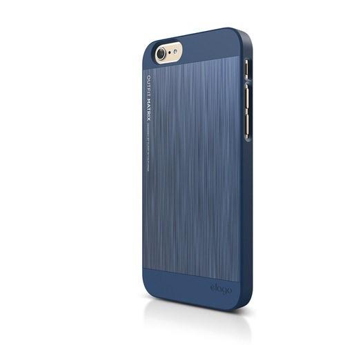 Elago Apple iPhone 6 S6 Outfit Matrix Series Kılıf - İndigo Mavi (Ekran Koruyucu Hediye)