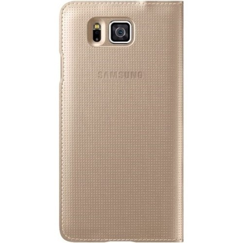 Samsung Galaxy Alpha S View Kapaklı Kılıf Gold - EF-CG850BFEGWW