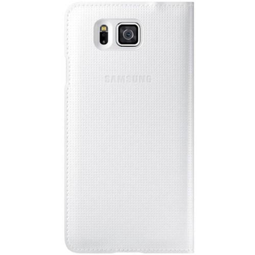 Samsung Galaxy Alpha S View Kapaklı Kılıf Beyaz - EF-FG850BWEGWW
