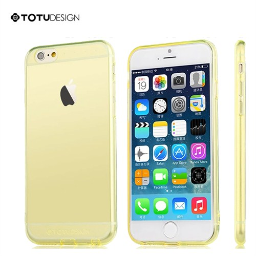 Totu Design Apple iPhone 6 Soft Sarı Kılıf
