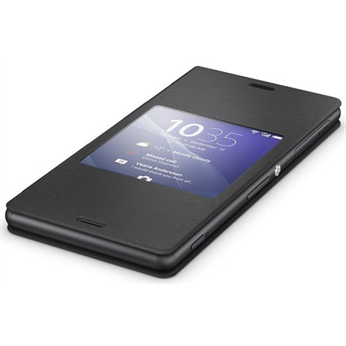 Sony Xperia Z3 Akıllı Pencere Fonksiyonlu Style Siyah Kılıf - SCR24RU/B
