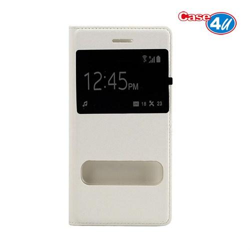 Case 4U Apple iPhone 6 Pencereli Flip Cover Beyaz